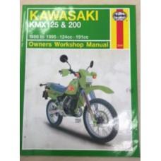 Kawasaki KMX125 & 200 Workshop Service Manual