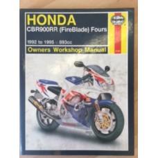 Honda CBR900RR (Fireblade) Fours Workshop Service Manual 92-95