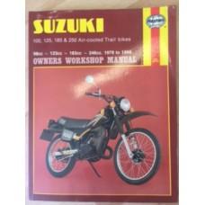Suzuki TS100, TS125, TS185 & TS250 Air-cooled Trail Bikes Workshop Service Manual